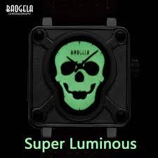 Online Shop <b>Baogela</b> Mens <b>Waterproof</b> Black Brown Leather Strap ...