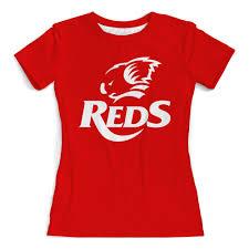"""Футболка с полной запечаткой (женская) """"Редс регби"""" #2705659 ..."""