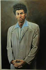 "24x36"" Cosmo Kramer Seinfeld Reproduction <b>Oil Painting</b>"