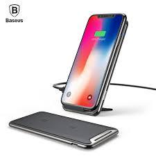 <b>Baseus</b> 10W <b>Three Coils</b> QI <b>Wireless Charger</b> Fast Charging Pad ...