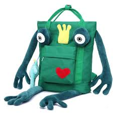 <b>2017</b> new bag <b>cartoon cute</b> frog backpack men and <b>women</b> high ...