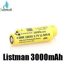 Original <b>Listman</b> IMR <b>18650 Battery</b> 40A <b>3000mah</b> Fit Kanger Nebox ...