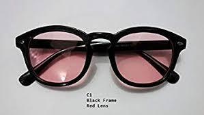 Vintage Clear Tinted Lens <b>Johnny Depp Glasses</b> Frame <b>Male</b> ...