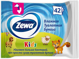 """<b>Влажная туалетная бумага</b> Zewa """"Kids"""", 42 шт., 1 уп. — купить в ..."""