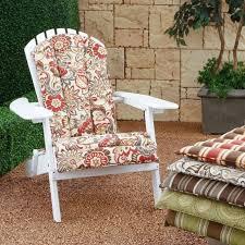coral coast atrium adirondack chair cushions for outdoor furniture ideas and flowers visual art cushion black patio chair cushions
