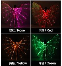 NEW <b>Women Belly Dance Props</b> 360 Degrees LED Shining Wings ...