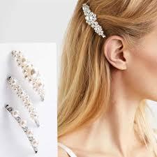 2019 <b>New Fashion</b> Women Korean <b>Pearl</b> Hair Clip Barrette Stick ...