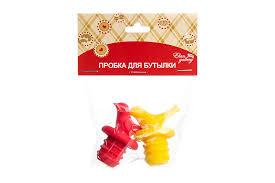 "Набор <b>пробок для бутылок</b> ""Птички желтая и красная"", 2 ..."