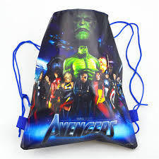 Avengers <b>1pcs</b> Drawstring Bags <b>High Quality</b> School <b>Portable</b> ...