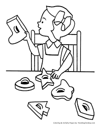 Small Picture Christmas Cookies Coloring Pages Cutting out Christmas Cookies