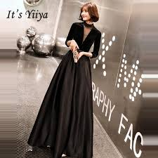 Hot Deal #18ee - <b>It's Yiiya Evening Dress</b> Black V-neck Evening ...