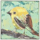 "<b>Картина Bird</b>, коллекция ""Птица"", ручная работа 40*40*5, Лен ..."