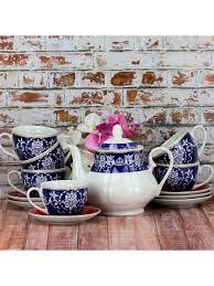 <b>Чайный</b> сервиз из фарфора 13 предметов <b>220</b> мл <b>LORAINE</b> ...