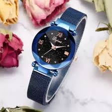 Ladies wristwatch <b>Fashion Starry Sky</b> Stainless Steel Mesh Belt ...