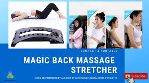 pvp back massager stretcher fitnessequipment stretch relax lumbar support spine pain relief chiropractic dropship