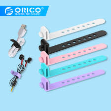 <b>ORICO</b> 5PCS <b>Silicone Cable Winder</b> Earphone <b>Wire Winder</b> ...