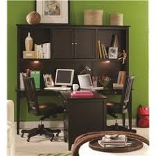 e2 midtown two person ergonomically friendly dual t desk with storage hutch three aspenhome home office e2