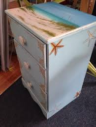 coastal art on a vintage table hand painted beach art by gabriela valencia custom art and beach theme furniture 1000