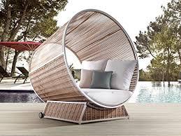 Alexander Francis Letto Sunbrella <b>Fabric</b> Modern <b>Outdoor Day Bed</b> ...