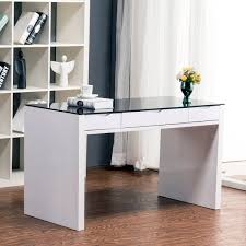 full size of desk contemporary computer desk white rectangle shape black transparent glass top wood alluring gray office desk