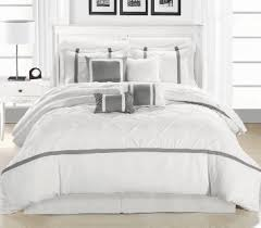 chic home vermont 8 piece comforter set whitesilver king chic white home