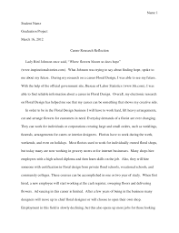 reflection essay sample Example Of Reflection Essay Reflection On Research Paper