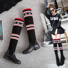S.Romance Women Boots <b>Plus Size 34 43</b> Low Square Heels <b>Knee</b> ...