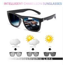 Men <b>Photochromic</b> Polarized Sunglasses Outdoor Driving <b>Square</b> ...