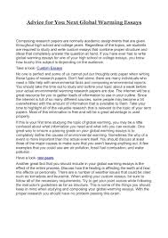 essay about advice advice for you next global warming essays la advice for you next global warming essays