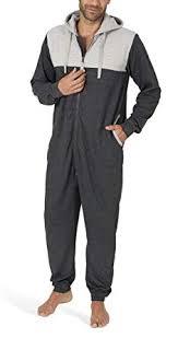 SLOUCHER - Men's <b>Cotton</b> Jumpsuit, Long-Sleeved Onesie for Men ...