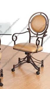 casual dining chairs with casters: tempo industries bellagio swivel amp tilt dining arm chair with casters