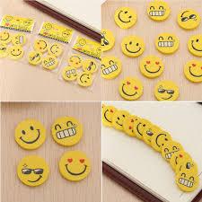mayitr  <b>12pcs Cute Funny</b> Emoji Smile Face Rubber Pencil Eraser ...