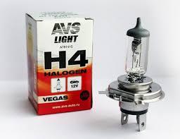 Галогенная <b>лампа AVS Vegas H4</b> (A78141S) 12V 60/55W 1шт.