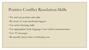 life skills teen living unit emotions unit ppt 48 positive conflict resolution skills