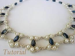 PDF tutorial lace beaded <b>necklace seed bead</b> pearl oval bead в ...