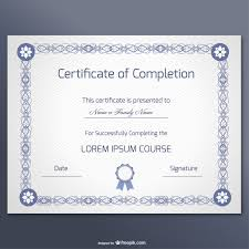compilation 10 certificate templates 4 elegant certificate of completion template