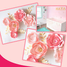 <b>Handmade Cardstock Rose DIY</b> Paper Flowers Leaves Set For ...