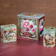<b>OhioWholesale</b> 3 <b>Piece</b> Vintage <b>Floral</b> Tins <b>Set</b> | Wayfair