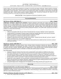 Preschool Teacher Resume Objective  resume examples  teaching