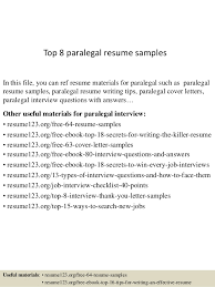 top  paralegal resume samplestop  paralegal resume samples in this file  you can ref resume materials for paralegal