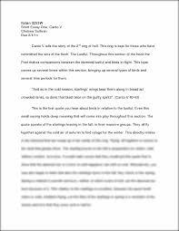 inferno essay doorway dantes inferno canto v short essay italian w short essay