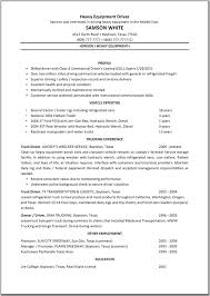 sample resume monthly work report template armored truck driver resume sales driver lewesmr truck driver resume objective examples heavy equipment sample resume heavy equipment operator