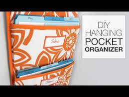 How to Make a <b>Hanging</b> Pocket <b>Organizer</b> - YouTube