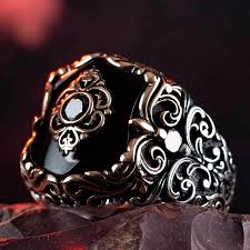 925 пробы Серебряное мужское <b>кольцо</b> с черным <b>ониксом</b> ...