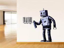 <b>Banksy Vinyl sticker</b> Banksy <b>decal</b> Banksy <b>sticker</b> Banksy Robot ...