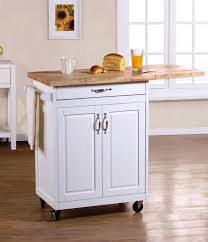 leaf kitchen cart: cart with cheap portable kitchen island with drop leaf in white color on island