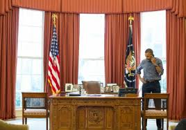 obama phoned russian president vladimir putin saturday from the oval office but the presidents denim duo has sparked some complaints barack obama oval office