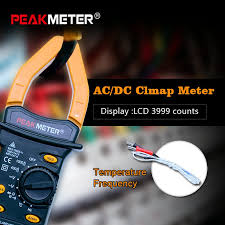 PEAKMETER MS2101 Digital Clamp Meter AC DC Auto range ...