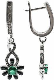 Купить женские серебряные <b>серьги Element47 by JV</b> в интернет ...