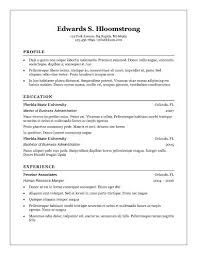 basic resume templates • hloom comtraditional elegance